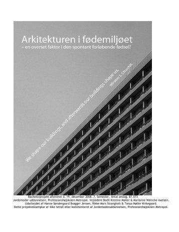 4. Projektets teori: Anskuelser om arkitektur - Jordemoderforeningen
