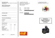 Workshop Digitale Fotographie/ Bildbearbeitung ... - Schwerin