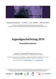 Jugendgeschichtstag 2010 - Landesjugendring MV - Schwerin