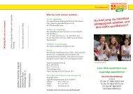 Flyer mit Informationen zur Ausbildung und Anmeldung