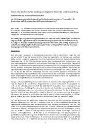 Änderung des Jugendhilfeorganisationsgesetzes