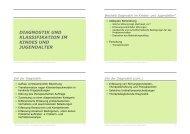 diagnostik und klassifikation im kindes und jugendalter
