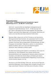 Presseinformation der Evangelischen Jugend ... - Schwerin
