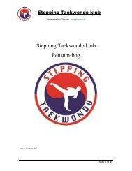 Stepping Taekwondo klub Pensum-bog