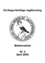 Medlemsblad 2003 nr 2.pdf - Køge - Herfølge Jagtforening