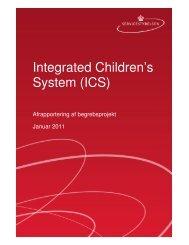 Integrated Children's System (ICS) - Sociale begreber