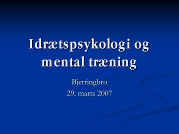 Mental træning - Bjerringbro Atletik & Motion