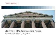 Ændringer i De Advokatetiske Regler - Bech-Bruun