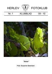 Klubblad Nr.1 09-10 - Herlev Fotoklub