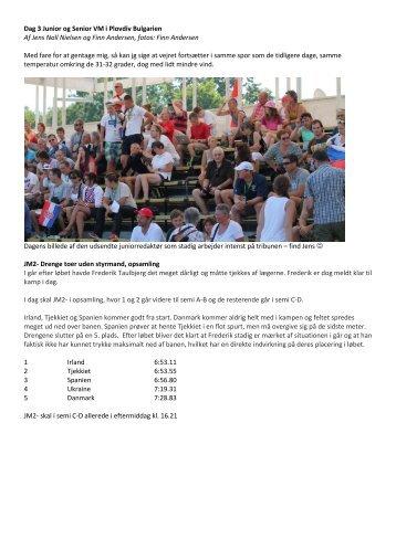 Dag 3 Junior og Senior VM i Plovdiv Bulgarien Af Jens Noll Nielsen ...