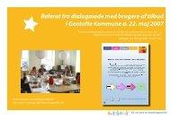 Referat fra dialogmøde med brugere af tilbud i Gentofte Kommune d ...