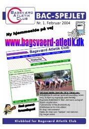 Nr. 1. Februar 2004 - Bagsværd Atletik Club
