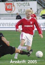 Årsskriftet for 2006 - Vejle Boldklub