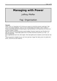 Jeffery Pfeffer: Managing with power - Black Diamond Consulting