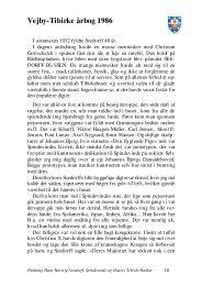 Vejby-Tibirke årbog 1986 - Vejby Tibirke Selskabet