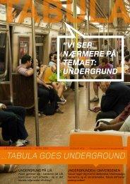 ...tabula GOES uNDERGROuND - Forside - Tabula