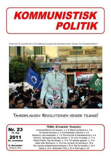 Nr. 23 2011 - Kommunistisk Politik
