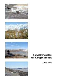 Forvaltningsplan for Kangerlussuaq - Nanoq