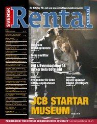 JCB startar museum - Svensk Rental