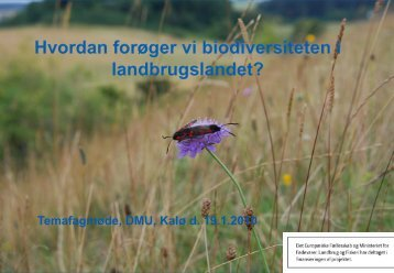 Natur- og vildtforvaltning i landbrugslandet