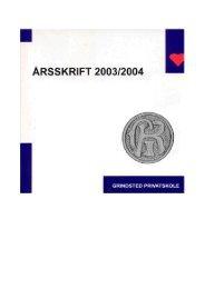 ARSSKRIFT 2003/2004 - Grindsted Kost –og Realskoles Elevforening