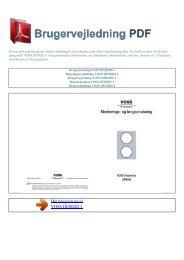 Brugsanvisning VOSS DEM202-1 - Brugervejledning