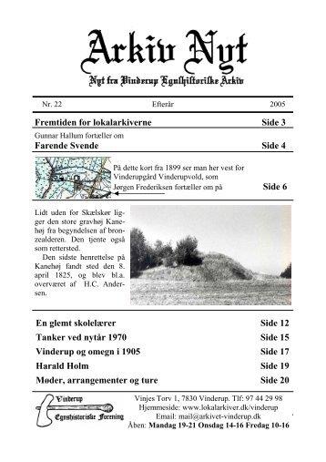Fremtiden for lokalarkiverne Side 3 Farende Svende Side 4 Side 6 ...