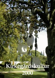 Kirkegårdskultur 2000 - Foreningen for Kirkegårdskultur