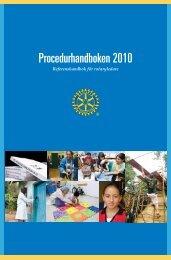 Procedurhandboken 2010 - Rotary International