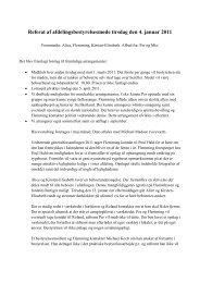 Referat af afdelingsbestyrelsesmøde tirsdag den 4. januar 2011