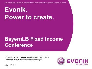 1 - Evonik Industries AG