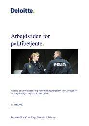 Arbejdstiden for politibetjente - Justitsministeriet