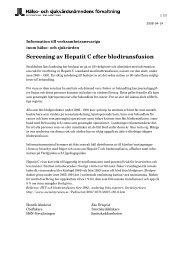 Screening av Hepatit C efter blodtransfusion - Webbhotell SLL ...