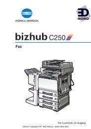 EDNord - Bizhub C250 Kopimaskine Brugervejledning Fax