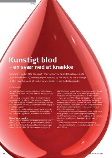 Kunstigt blod - Pharmadanmark
