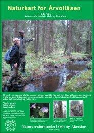 Naturkart for Årvollåsen - Norges Naturvernforbund