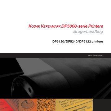 KODAK VERSAMARK DP5000-serie Printere Brugerhåndbog