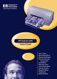 HP DeskJet 610C Serie Printer Brugerhåndbog