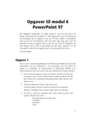 Opgaver til modul 6 PowerPoint 97