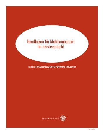Handboken för klubbkommittén för serviceprojekt