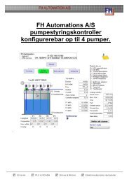 Læs mere om pumpestyringskontrolleren her - FH Automation A/S