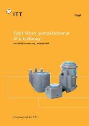Flygt Micro pumpestationer til privatbrug - Nyrup Plast