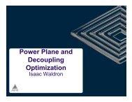 Power Plane and Decoupling Optimization