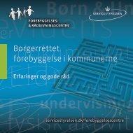 Borgerrettet forebyggelse i kommunerne - Servicestyrelsen