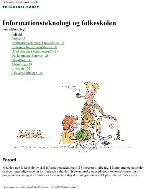 """""""Informationsteknologi og folkeskolen"""" i PDF format. - Teknologirådet"""