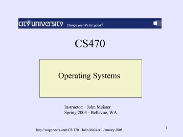 Operating Systems - John Meister