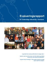 Evalueringsrapport for midlertidige efterskoler i Grønland - Inerisaavik