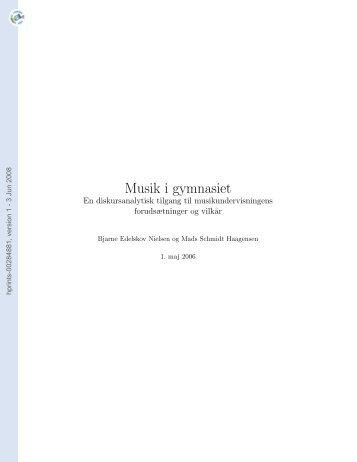 [hprints-00284881, v1] Musik i gymnasiet