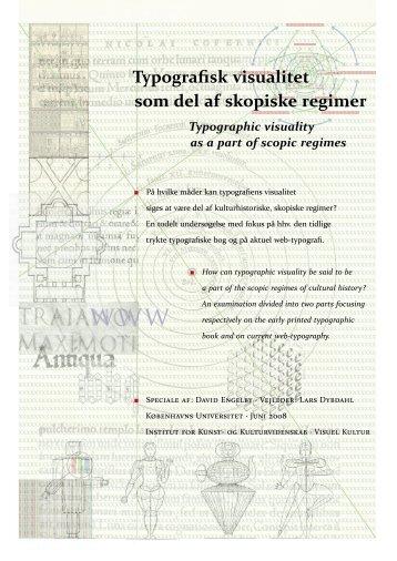 Typografisk visualitet som del af skopiske regimer - Akademisk ...