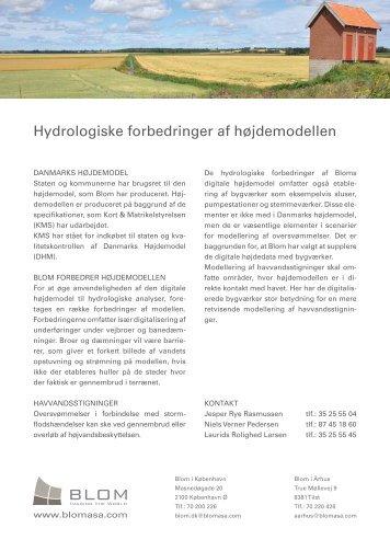 Hydrologiske forbedringer af højdemodellen - Blom